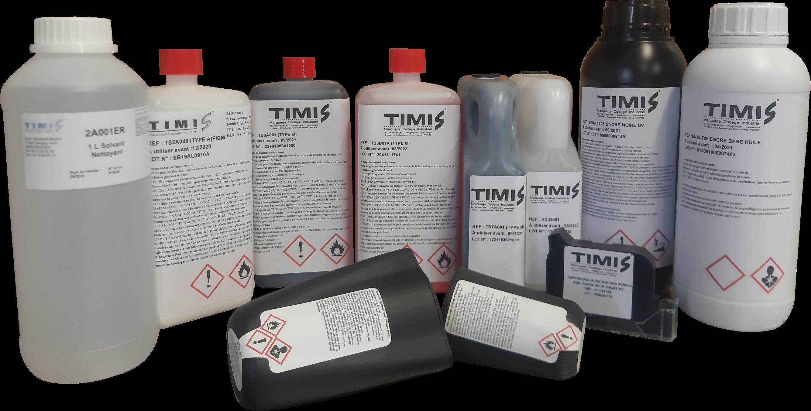 Encre de marquage pour imprimante industriel | TIMIS Marquage Codage Industriel
